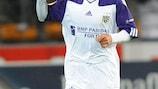 Mbark Boussoufa celebrates his first-half goal