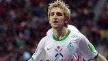 Marko Marin, do Bremen, está a gostar da experiência na UEFA Champions League