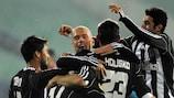Filip Hološko takes the plaudits after doubling Beşiktaş's lead