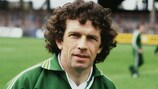 Johnny Giles with the Irish national team in 1978