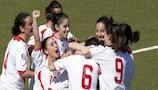 Malta celebrate Rebecca D'Agostino's last-gasp winner against Georgia