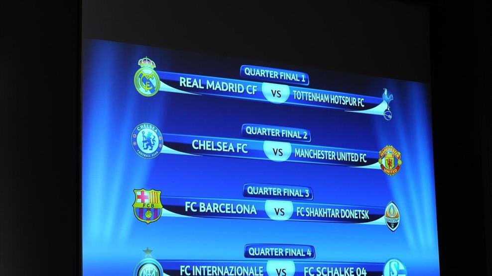 Champions League Quarter Final Draw Uefa Champions League Uefa Com