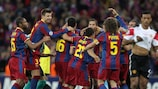 Barcelona's players earned warm words from their coach for the way they performed at Wembley