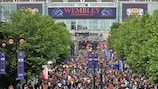 Fans stream to the 2011 final at Wembley