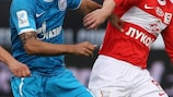 Spartak's Aiden McGeady (right) is up against his old club Celtic