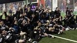 El Neftçi PFK celebra el título de liga