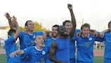 El Irtysh celebra su victoria en la UEFA Europa League ante el Jagiellonia Białystok