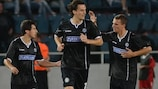 Sturm's Thomas Burgstaller reacts after their equaliser