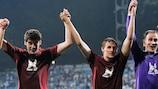 Rubin celebrate their victory in Kyiv