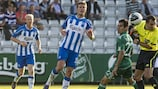 Stergos Marinos (in green) helped Panathinaikos earn an away goal against OB