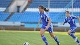 Pamela Conti scores against FK Zorkiy Krasnogorsk on her debut for Energiya