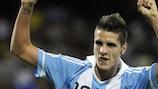 Eril Lamela celebrates after scoring for Argentina U-20s against Mexico