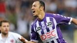 Umut Bulut celebra un gol con el Toulouse.