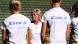 Silvia Neid takes Germany training ahead of their qualifying opener against Switzerland