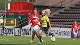 Brøndby's Signe Andersen (right) in action against Standard