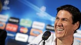 Rudi Garcia addresses the press on Tuesday