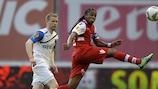 Braga forward Alan vies with Tom Høgli of Club Brugge
