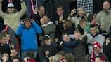 Emir Bajrami takes the acclaim after scoring Twente's second