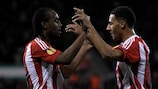 Ryan Shotton (right) celebrates with fellow goalscorer Cameron Jerome