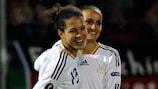 Célia Okoyino da Mbabi ha firmato quattro gol per la Germania contro il Kazakistan