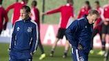 Frank de Boer (L) has a good feeling about Ajax's European hopes this season