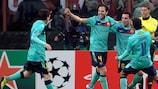 Xavi clinches top spot for Barcelona in Milan