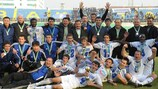 Ordabasy celebrate their Kazakh Cup final win against Tobol