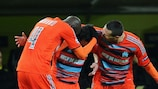 Mathieu Valbuena en la celebración tras su gol