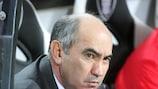 Rubin coach Kurban Berdyev has a new goalkeeper in his ranks