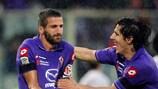 Alessandro Gamberini (left) departs Fiorentina after seven seasons