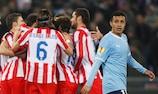 El Atlético ganó por un global de 4-1 a la Lazio en los dieciseisavos de final de la Europa League