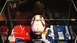 The UEFA Europa League Truck Tour features memorabilia from last year's final