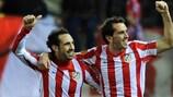 Juanfran und Diego Godín wollen auch in Bukarest so feiern