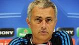 José Mourinho speaks to the media on Tuesday
