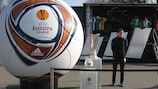 The UEFA Europa League Truck Tour outside the Hannover Arena