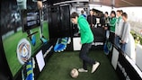The Truck Tour was the centre of attention outside the José Alvalade