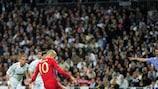 Arjen Robben marcó desde el punto de penalti ante el Real Madrid