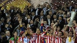 Atlético lifted the UEFA Europa League trophy in 2011/12