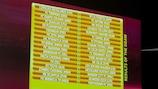O resultado do sorteio é apresentado em Nyon