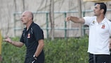 Valletta coaching team, Mark Miller and Gilbert Agius