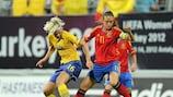 La española Alexia Putella junto a la sueca Lina Hurtig en la final del pasado mes de julio