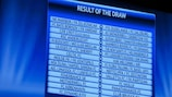 The third qualifying round draw results are displayed in Nyon