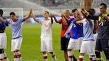 Die Schweizer feiern den 4:2-Sieg gegen Kroatien