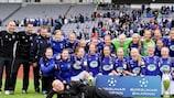 Stjarnan celebrate winning the 2012 Icelandic Cup