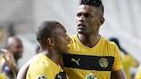 Dosa Júnior celebra el primer gol del Limassol ante el Anderlecht