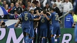 Frankreich bejubelt den Treffer von Christophe Jallet zum zwischenzeitlichen 2:0