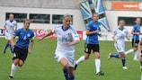 Sanna Talonen a marqué un triplé pour la Finlande