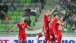 Granit Xhaka zeichnete mit einem Weitschuss für das 1:0 der Schweizer verantwortlich
