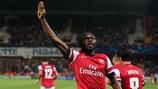 Gervinho celebra tras marcar el gol de la victoria