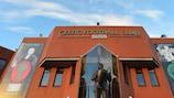La estatua del que fue técnico Jock Stein a las afueras de Celtic Park